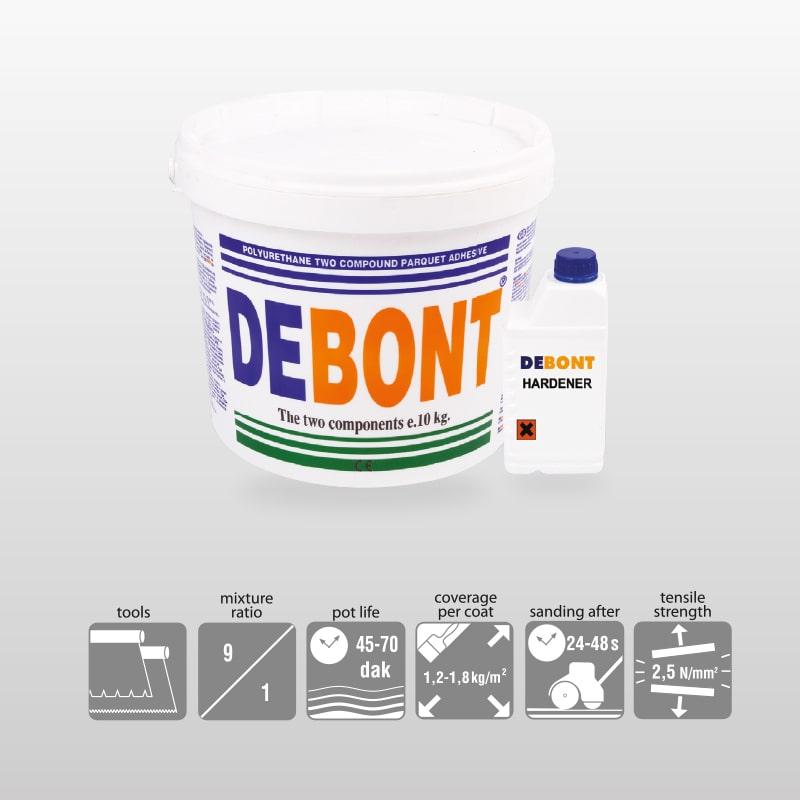 DEBONT-2K Polyurethane Adhesive For Parguet