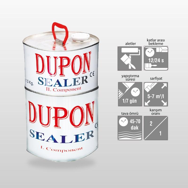 DUPON SEALER Beton-Zeminler için iki Komponentli Poliüretan Emprenye Astar