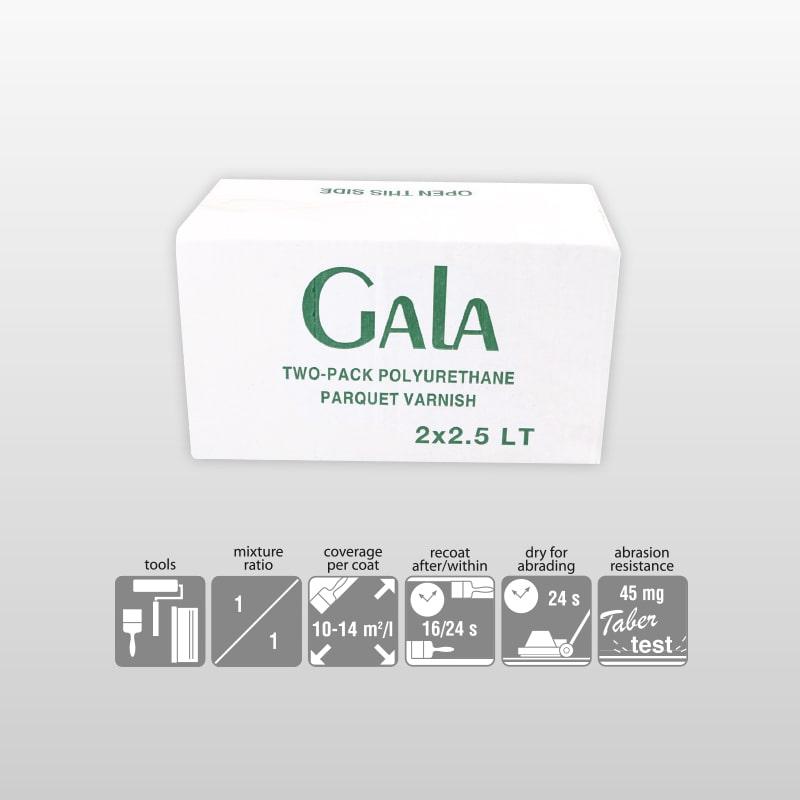 GALA-2K Polyurethane Glossy Satin And Matt Varnish For Parguet