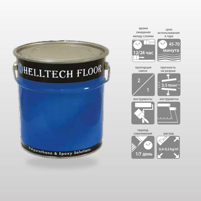 HELLTECH LEVELLING PLASTER-Выравнивающая Стяжка На Эпоксидной Основе