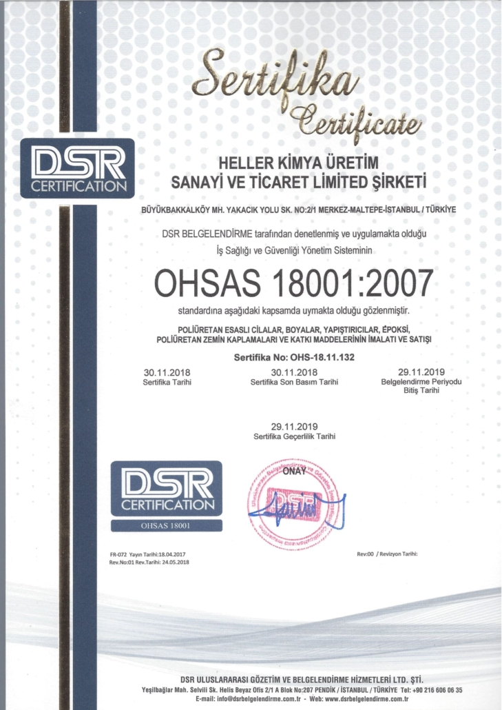 ISO18001-2007