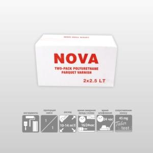 NOVA-2К Полиуретановый глянцевый паркетный лак