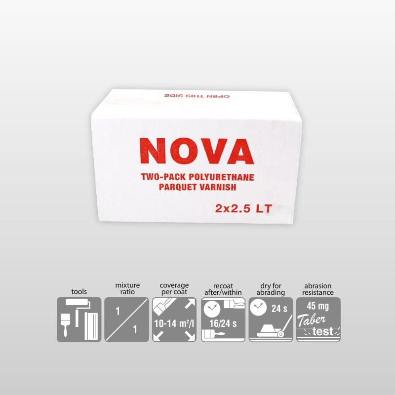 NOVA-2K Polyurethane High Gloss Varnish For Parguet